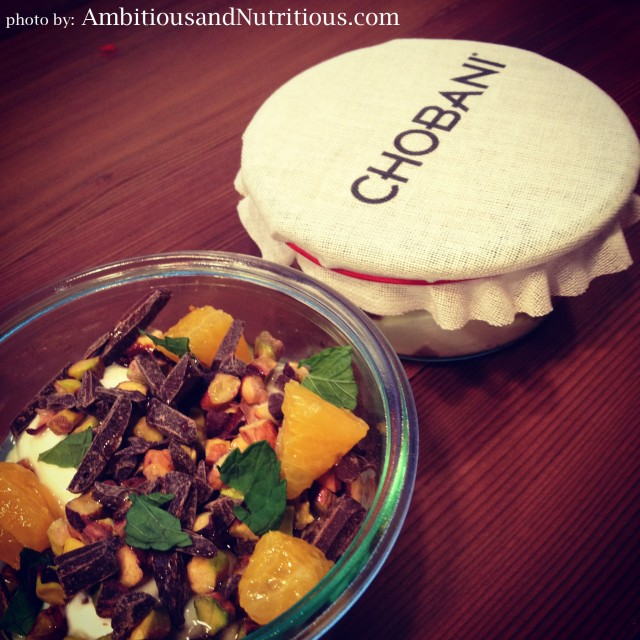 Chobani SOHO Pistachio + Chocolate Creation