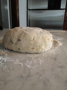 Irish soda bread dough