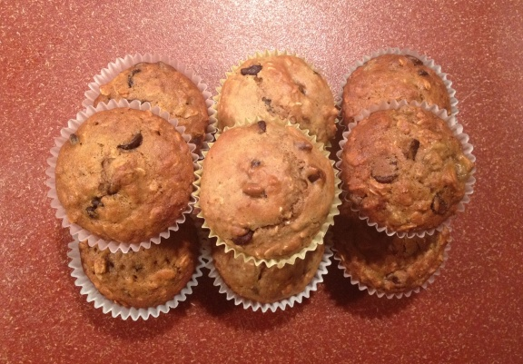 Oatmeal Chocolate Chip Muffins